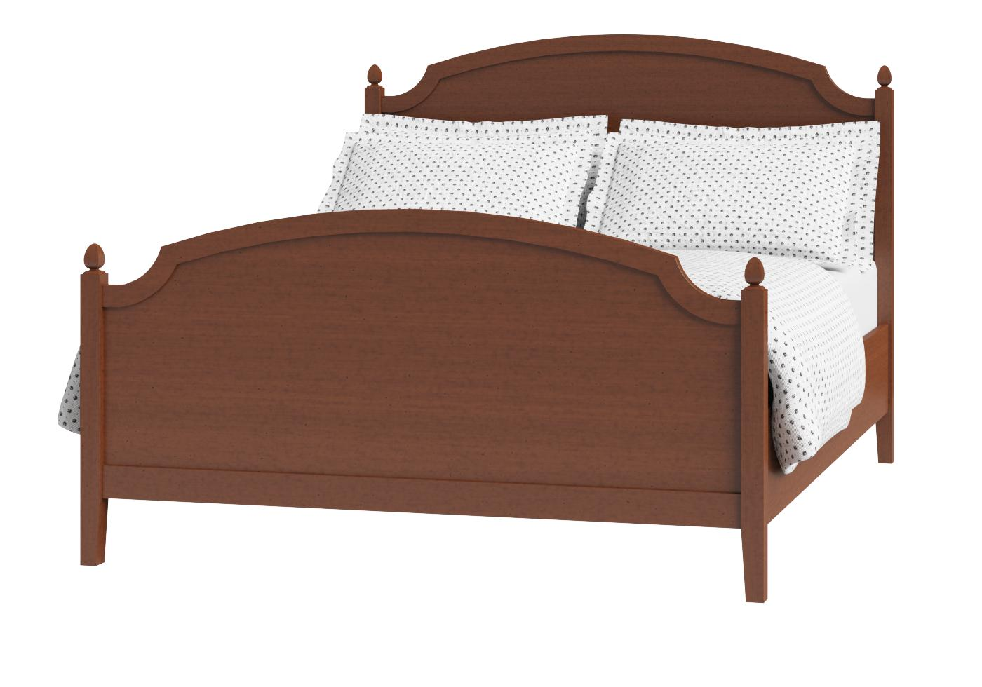 Cutout of Kipling wood bed in a dark cherry finish