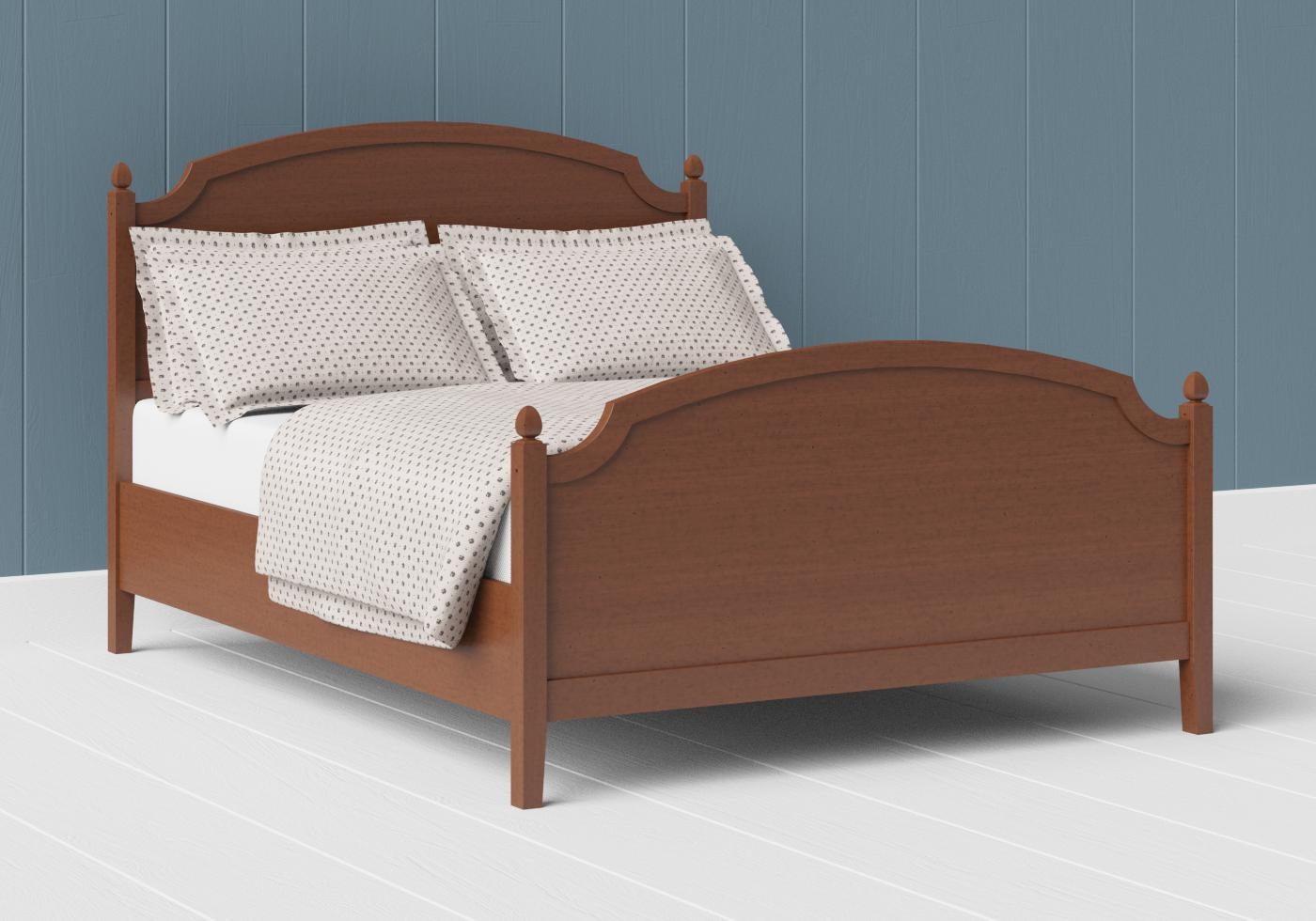 Kipling wood bed in a dark cherry finish