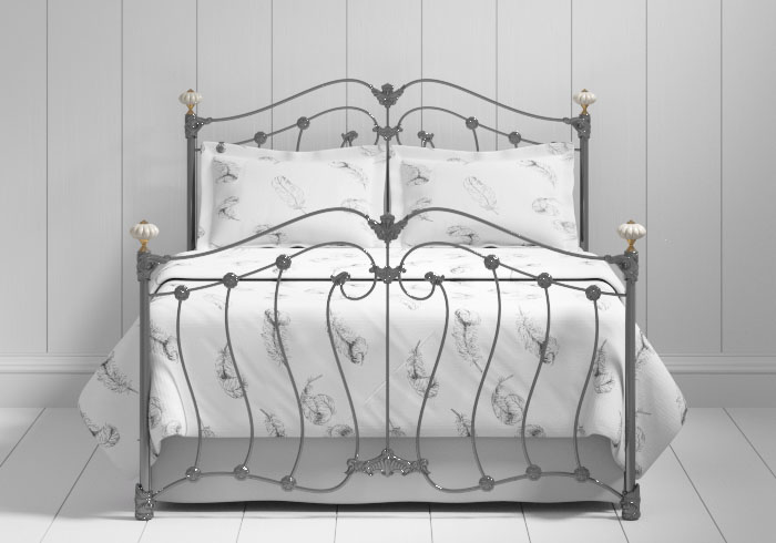 Lisburn iron bed in pewter