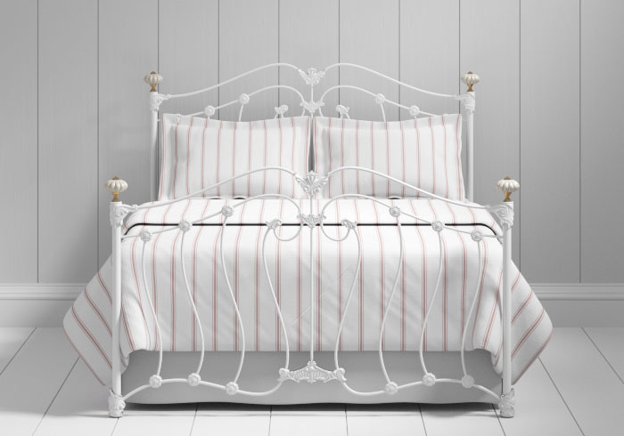 Lisburn iron bed in white