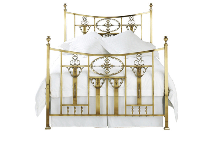 Lochranza bed in a antique brass finish