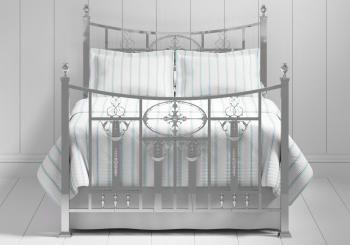 Lochranza bed in a chrome finish