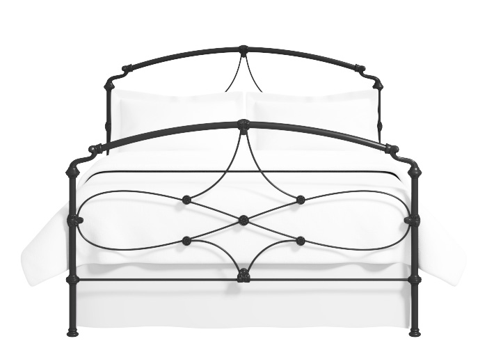 Lyon iron bed in black