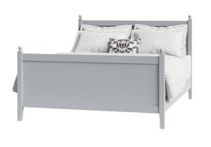 Cutout of Marbella painted wood bed in grey