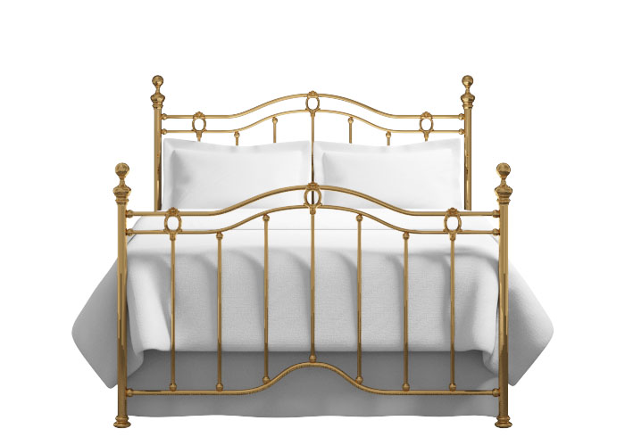 Merrion bed in a brass finish
