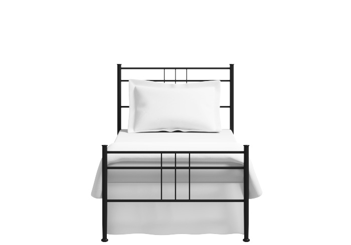 Milano single iron bed in black