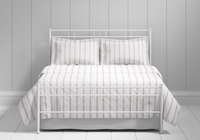 Milano iron bed in white