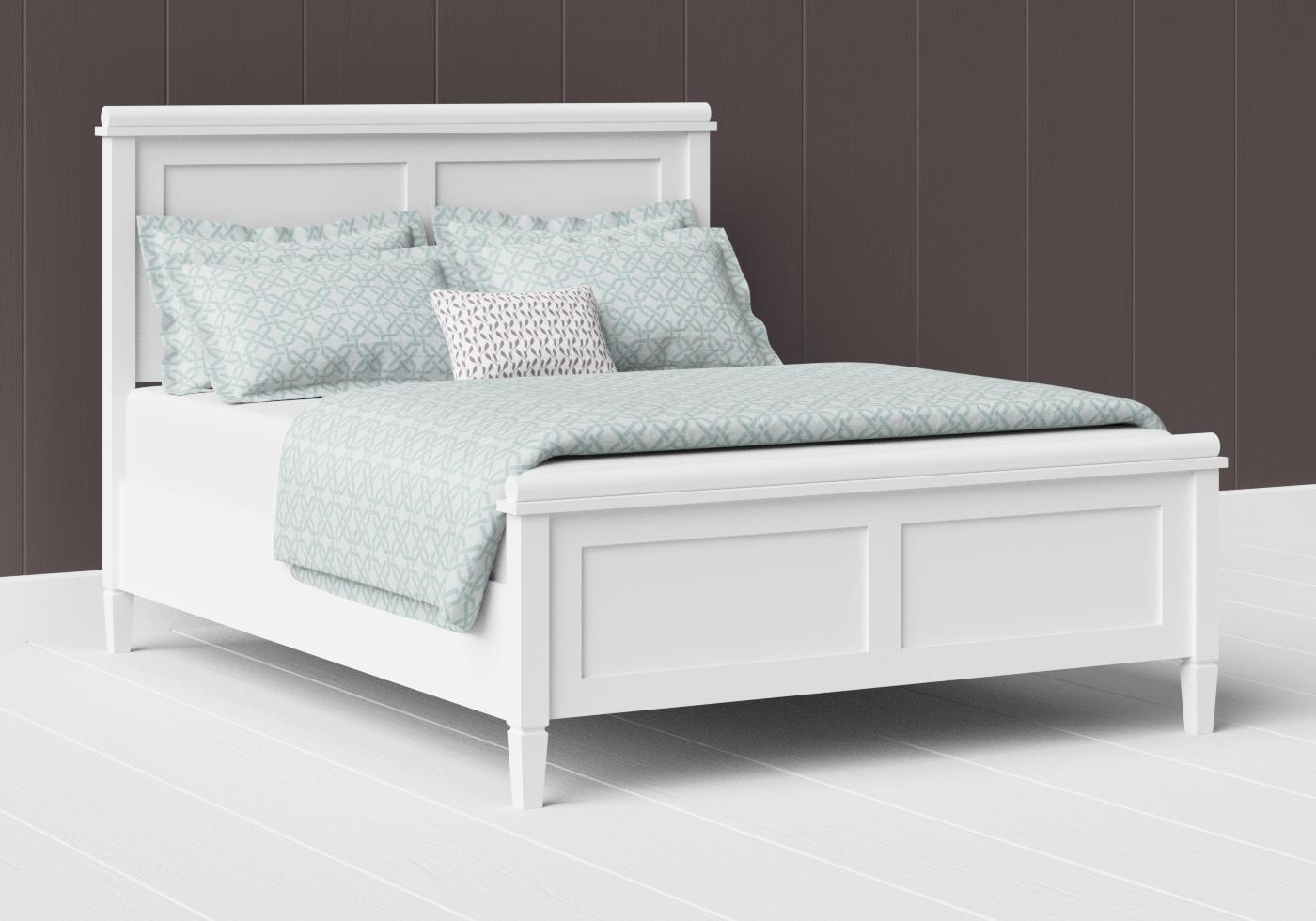 Nocturne low footend painted wood bed in satin white