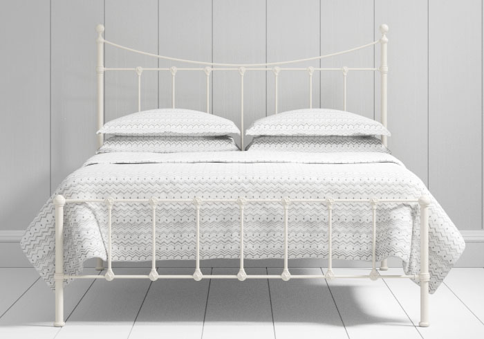 Olivia low footend iron bed in ivory