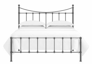 Olivia low footend iron bed in satin black