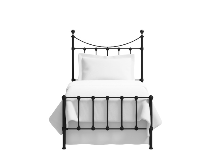 Olivia low footend single iron bed in black