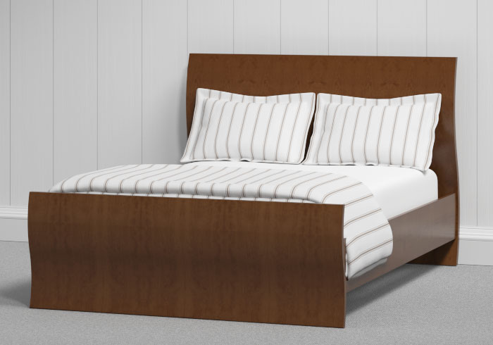 Opus wood bed in walnut
