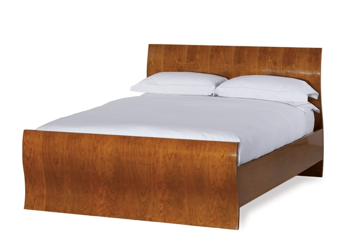 Opus wood bed in a cherry finish