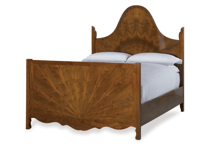 Overture wood bed in a walnut finish