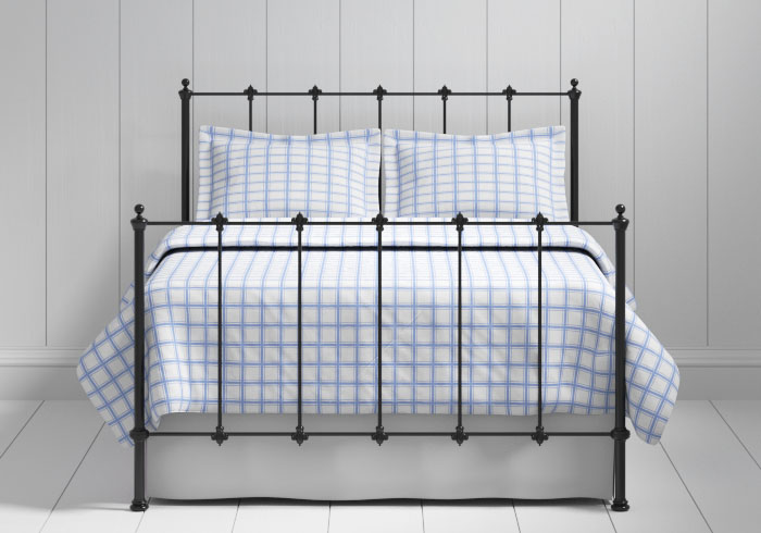 Paris iron bed in black