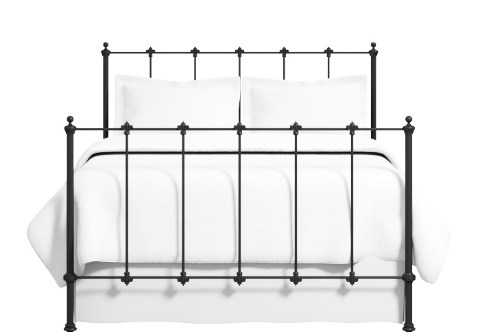 Paris iron bed in satin black