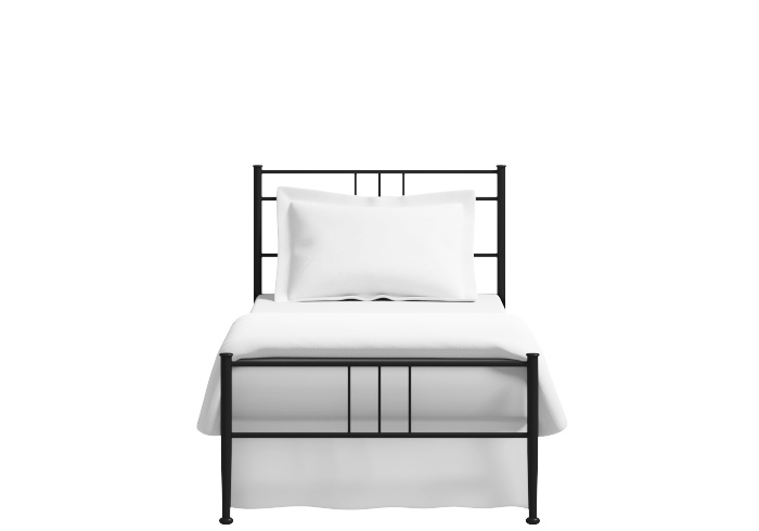 Pluto low footend single iron bed in black