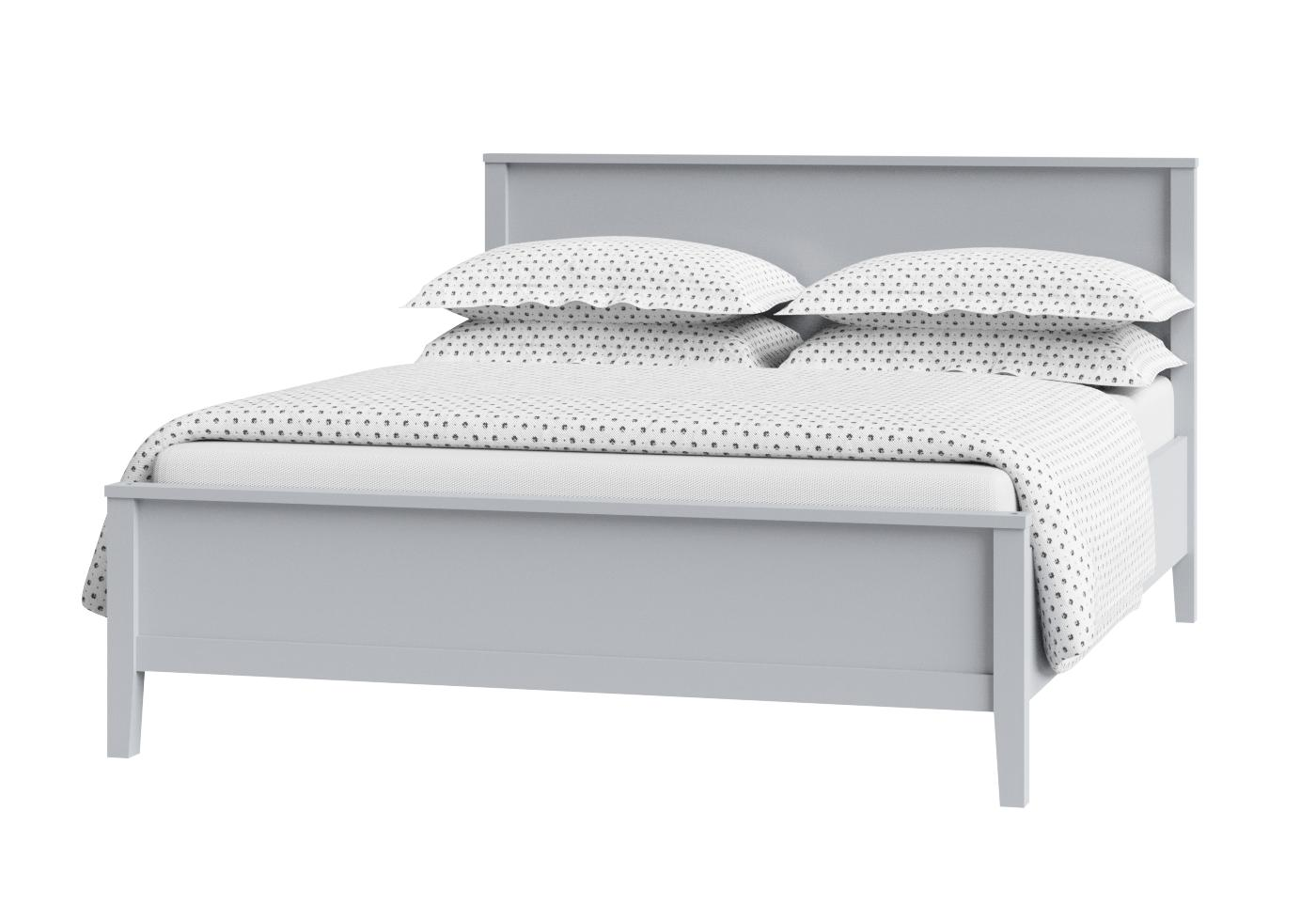 Cutout of Ramsay low footend painted wood bed in grey