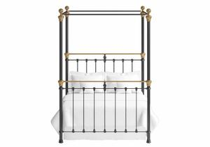Rannoch iron four poster bed in black