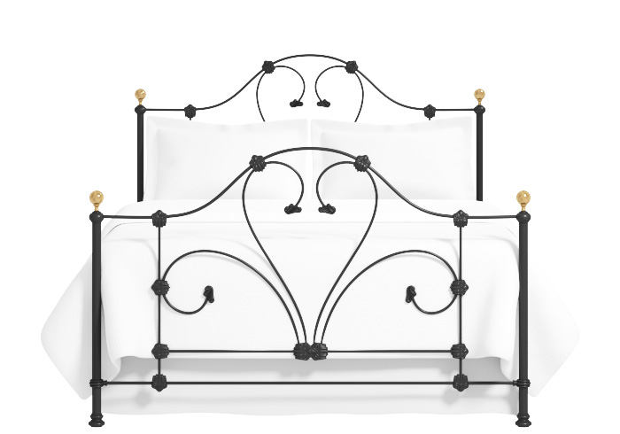 Rossini iron bed in black with brass