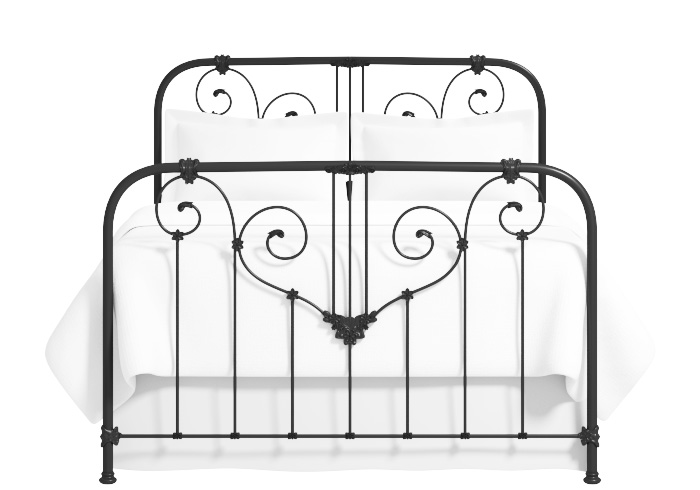 Shabby chic iron bed in black