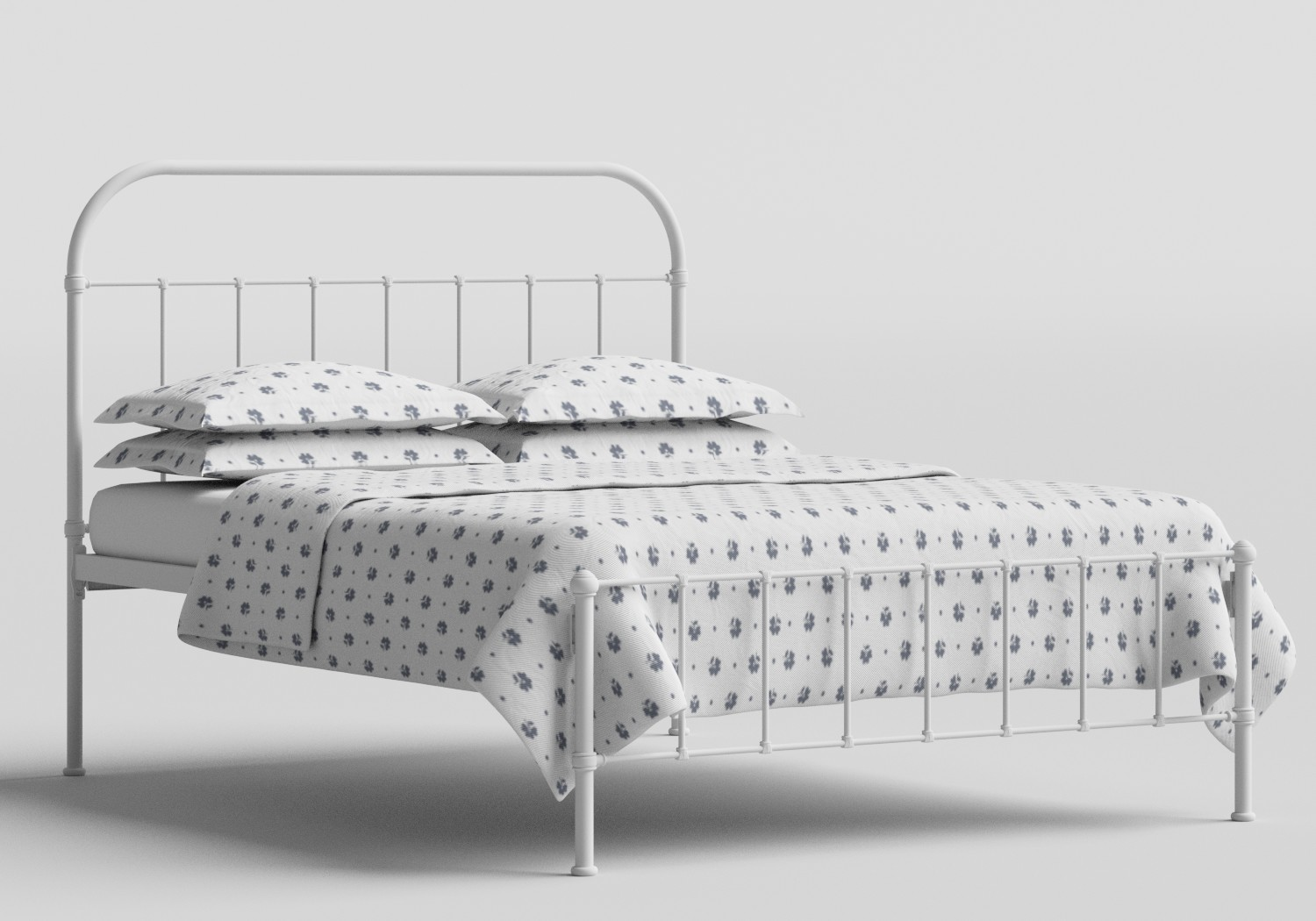 Solomon Iron/Metal Bed in Satin White