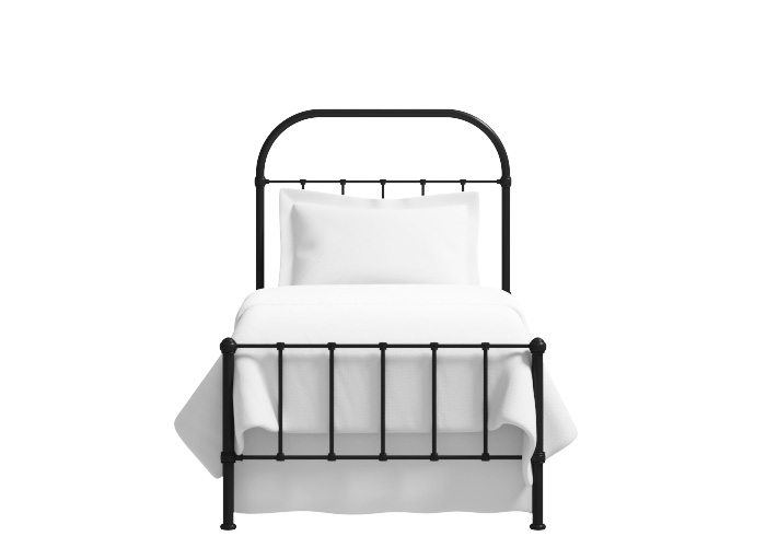 Solomon low footend iron bed in black