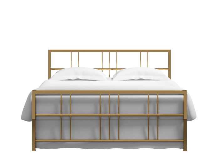 Tain bed in a brass finish