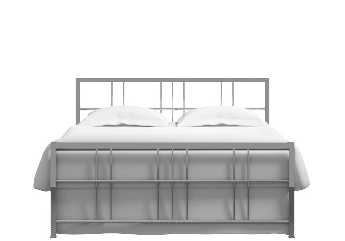 Cutout of the Tain bed in a chrome finish