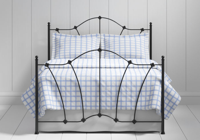 Thorpe iron bed in black