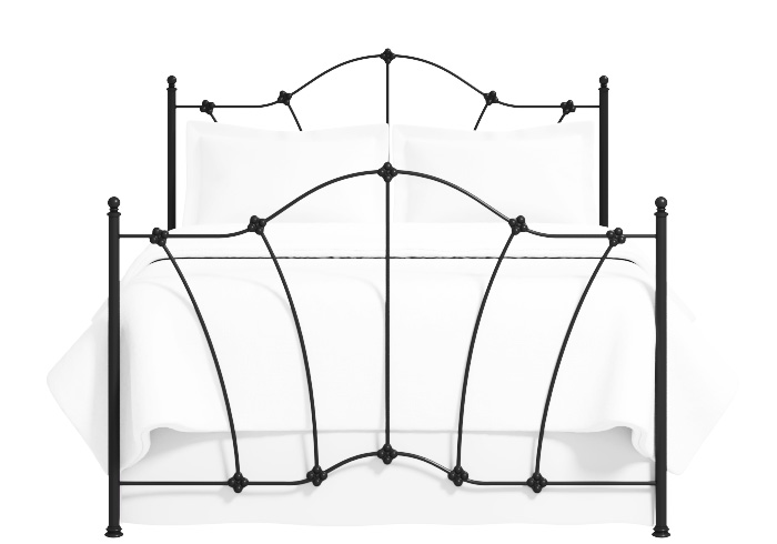 Thorpe iron bed in satin black