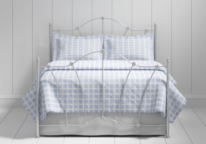 Thorpe iron bed in silver