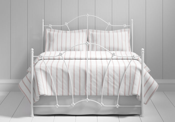 Thorpe iron bed in white