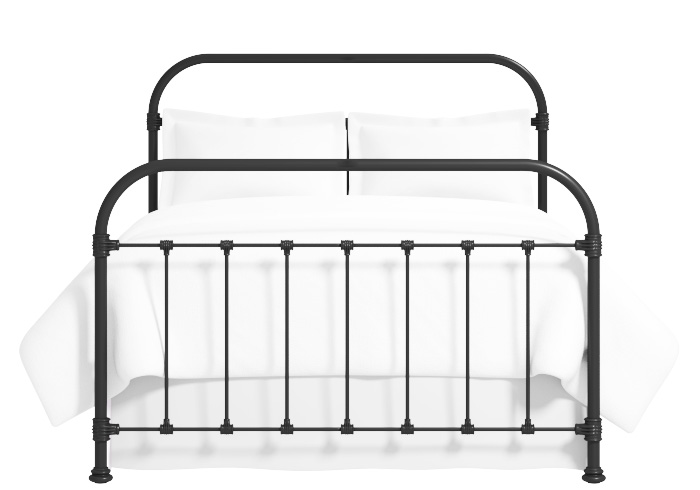 Timolin iron bed in satin black