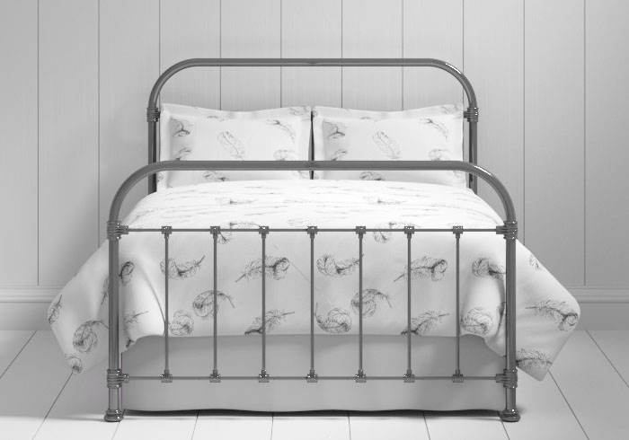 Timolin iron bed in pewter