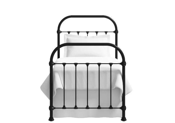 Timolin iron bed in glossy ivory (Single)