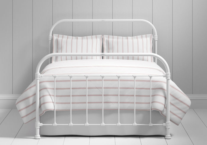 Timolin iron bed in white