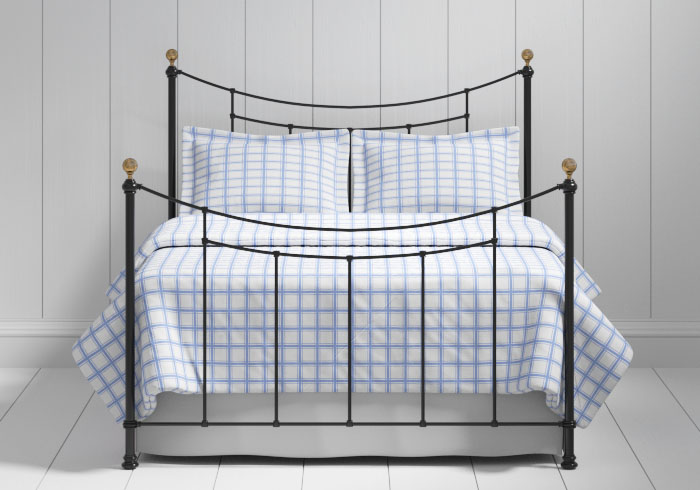 Virginia iron bed in black with brass