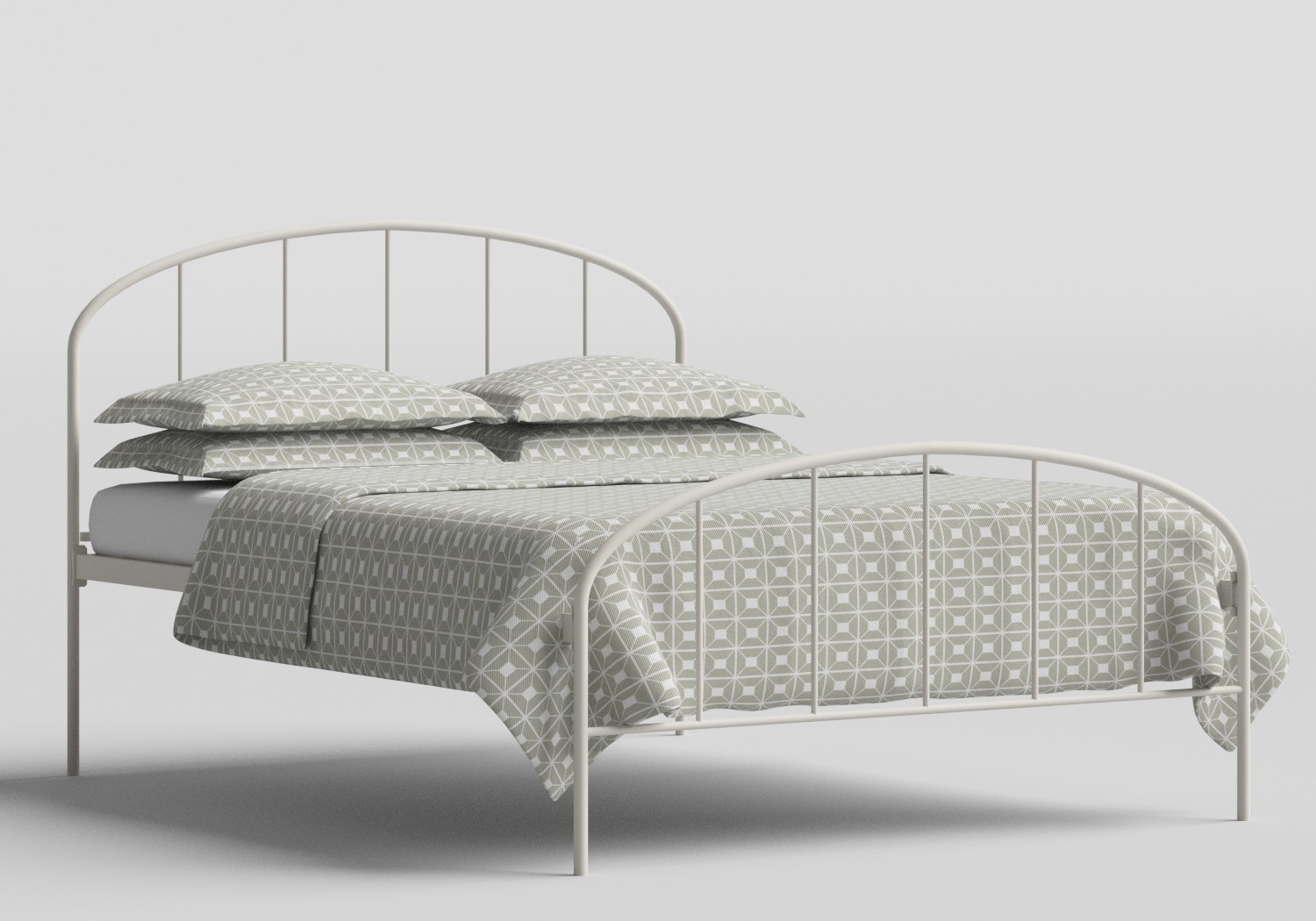 Waldo Iron/Metal Bed in Glossy Ivory