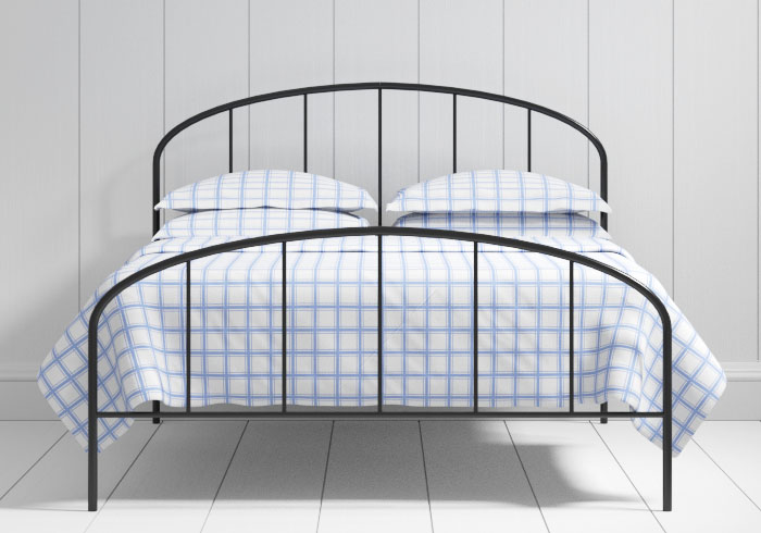 Waldo low footend iron bed in black