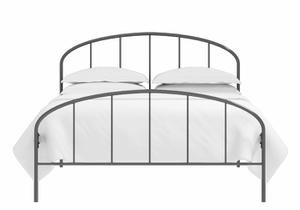 Waldo low footend iron bed in satin black