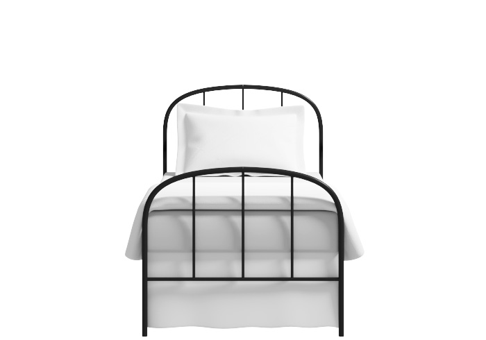 Waldo low footend single iron bed in black