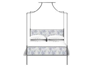 Waterloo iron four poster bed in black