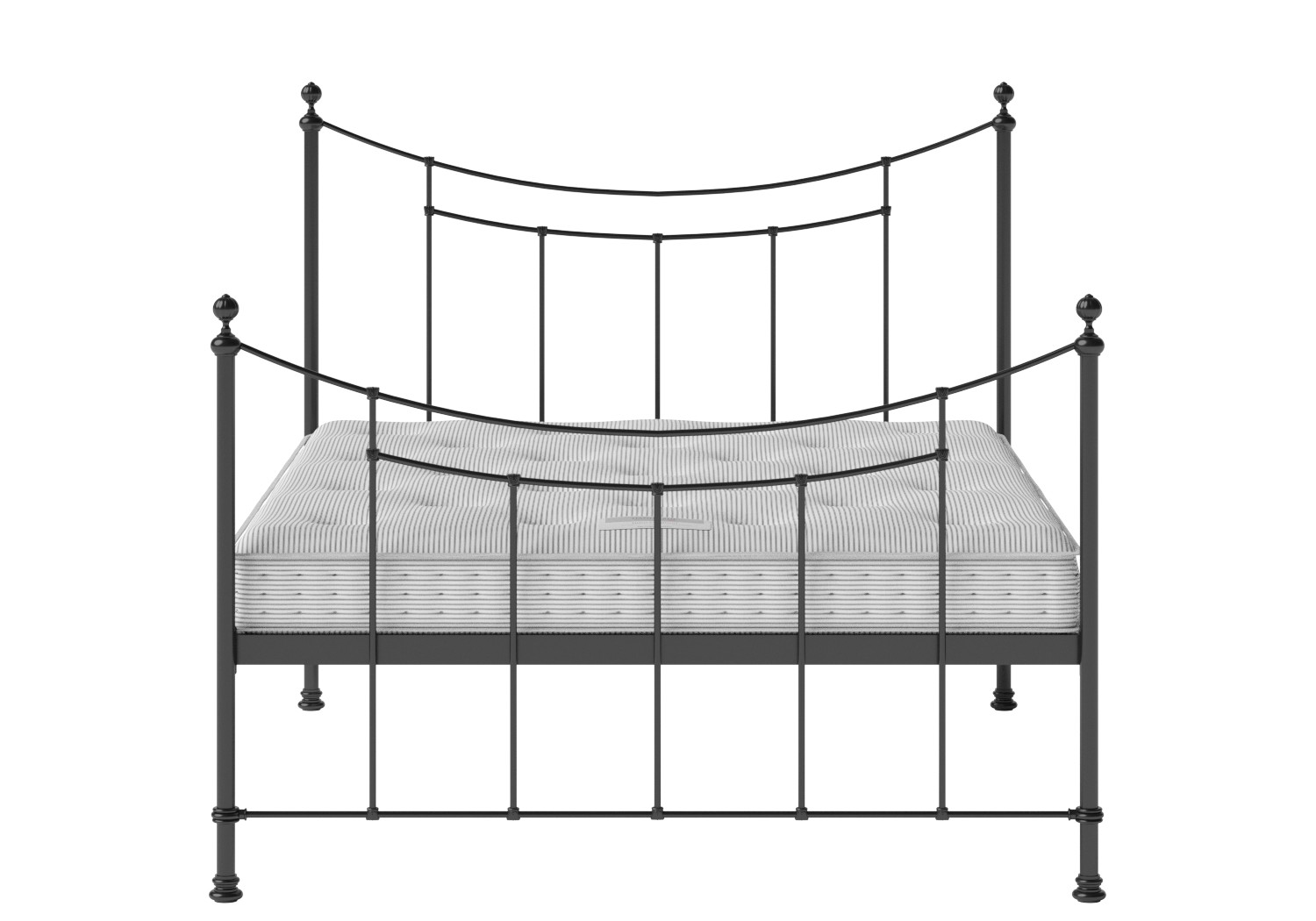 Winchester Iron/Metal Bed in Satin Black