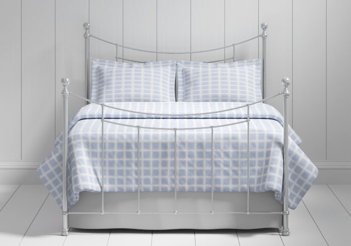 Winchester iron bed in silver