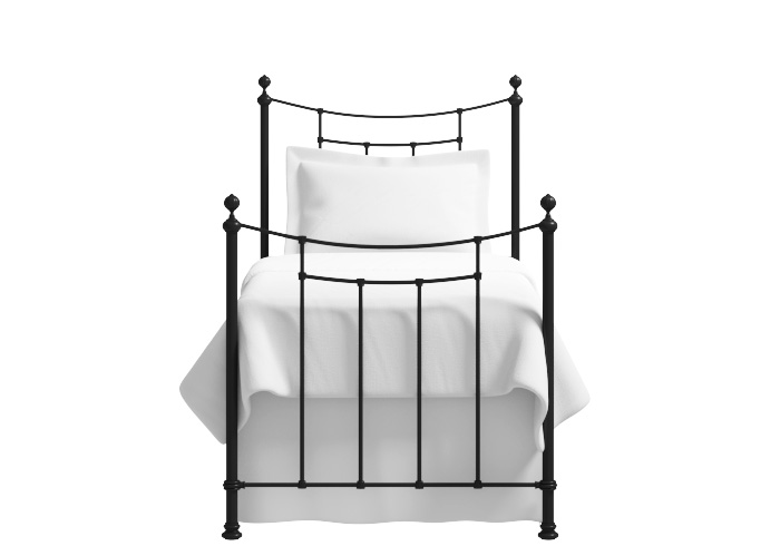 Winchester single iron bed in satin black
