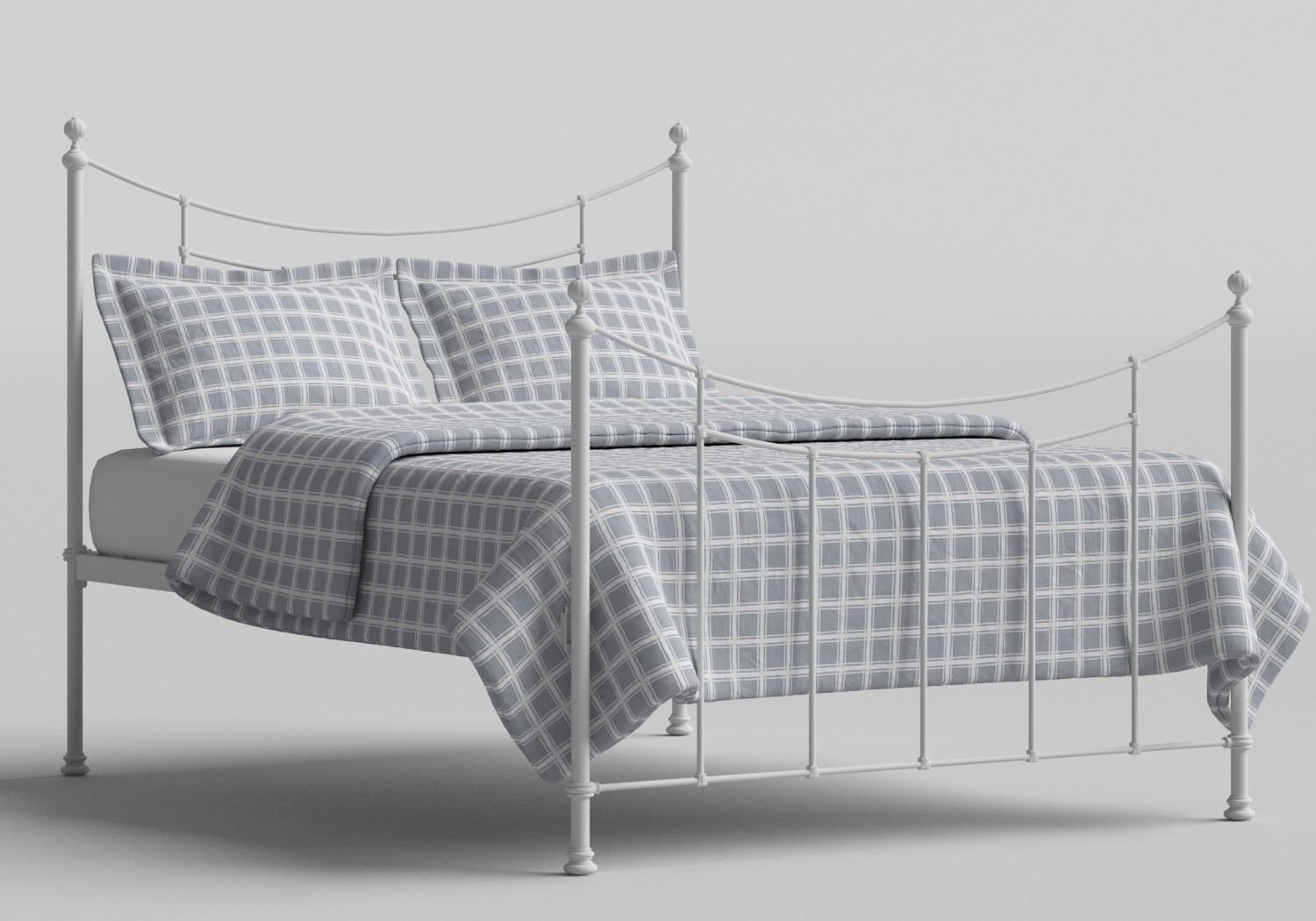 Winchester Iron/Metal Bed in Satin White