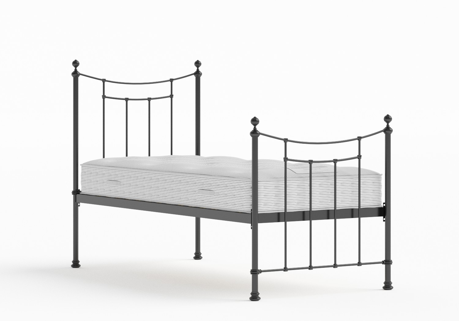 Winchester Single Iron/Metal Bed in Satin Black