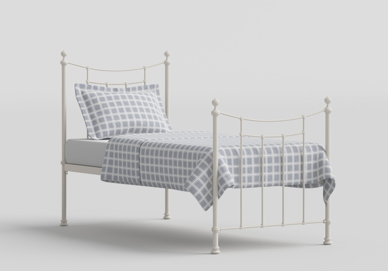 Winchester Single Iron/Metal Bed in Glossy Ivory