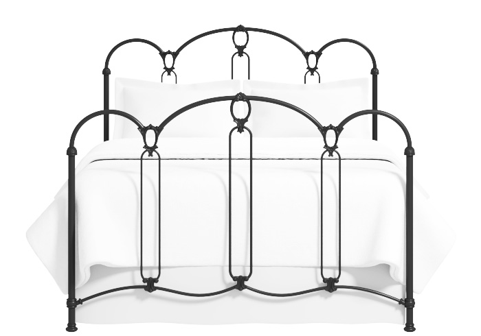 Windsor iron bed in satin black